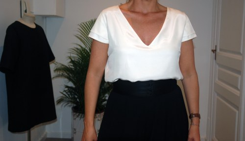blusa seda a medida